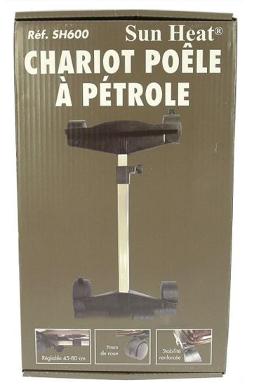 CHARIOT SUPPORT POELE A PETROLE  40 x 30