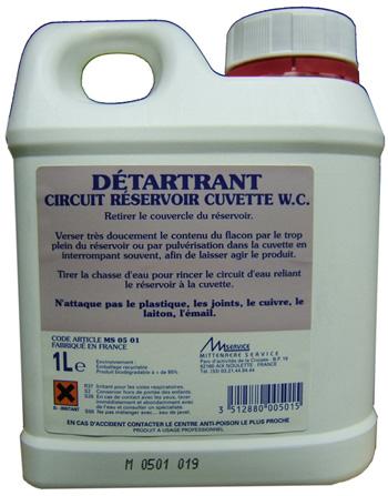 DETARTRANT PRO CIRCUIT / RESERVOIR WC 1L