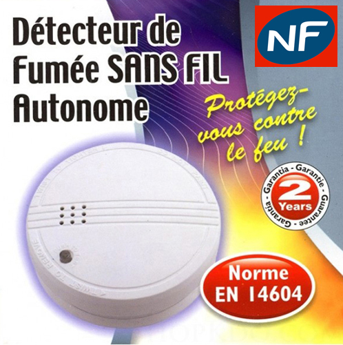 DETECTEUR DE FUMEE AUTONOME DAAF EN14604
