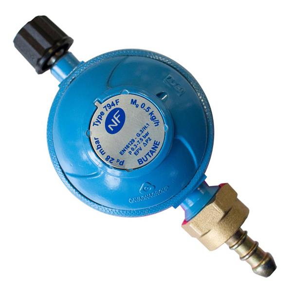 DETENDEUR CAMPING GAZ BUTANE 28mb + ROBINET ET TETINE