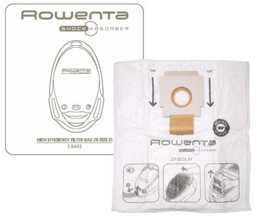 SACS ORIGINE ASPIRATEUR ROWENTA SHOCK ABSORBER  X5
