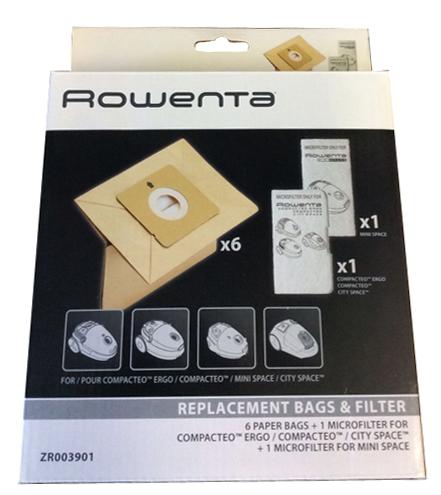 SACS ORIGINE +MF MOULINEX COMPACTEO ACCESSIMO ROWENTA x6
