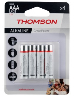 BLISTER 4 PILES LR03 ALCALINES AAA HIGH ENERGY THOMSON