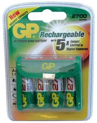 BLISTER 4 PILES LR06 AA NiMh RECHARGEABLES 2400mAh