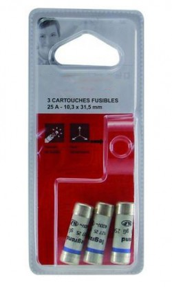BLISTER 5 FUSIBLES 25A 10.3x31.5  NF