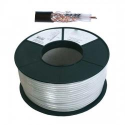 CABLE COAXIAL 17VAtC  6,8 / 7m/m  BLINDE TV/SAT. 100 M  75 Ohms