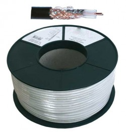 CABLE COAXIAL 17VAtC  6,8 / 7m/m  BLINDE TV/SAT. 100 M  75 Ohms