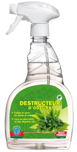 DESTRUCTEUR D'ODEURS ANTI-BACTERIEN  VAPO. 500ml