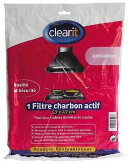 FILTRE HOTTE CHARBON ACTIF NOIR 570x470