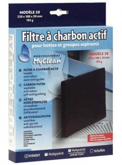 FILTRE HOTTE CHARBON Type 20  220x180x20  WHIRLPOOL - ELECTROLUX