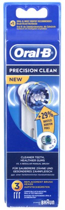 JEU 3 BROSSES ORAL-B PRECISION CLEAN EB20-3  BRAUN