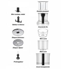 KIT BOL + COUVERCLE + CUVE + MINI CUVE ROBOT MAGIMIX CS5100 & CS5200