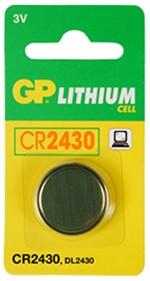 PILE BOUTON LITHIUM CR2430 3V