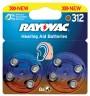 8 PILES AUDITIVES RAYOVAC Zn-Air 312  1,4V